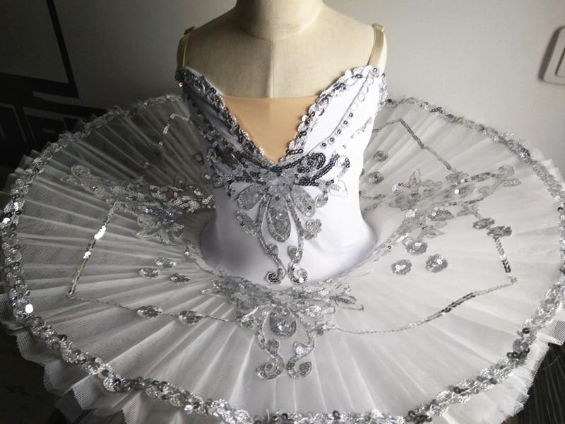 b3f78140b7 Pro SWAN LAKE Performance Ballet Tutu Dance Skirt white Dress Platter  Costume