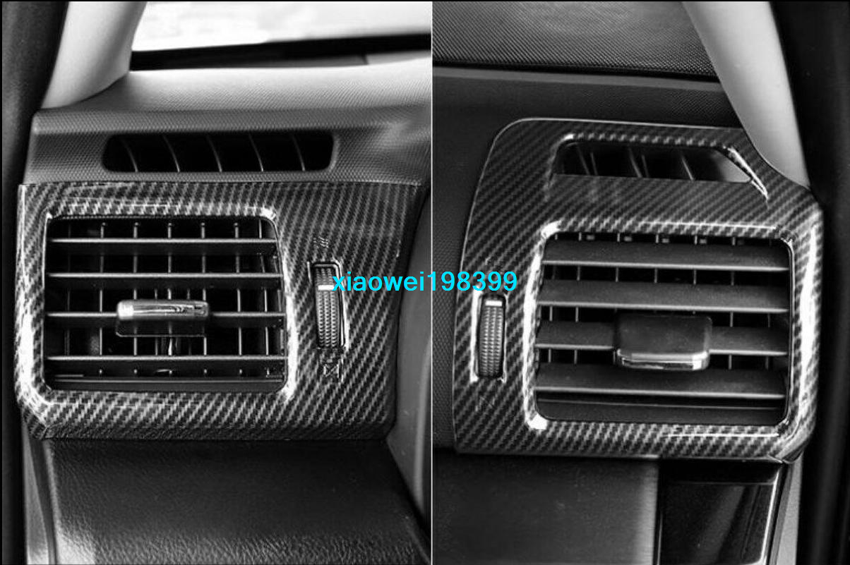 Carbon Fiber RT-TCZ Rear Air Condition Outlet Vent Cover Decor for 2010-2020 Toyota 4Runner Accessories