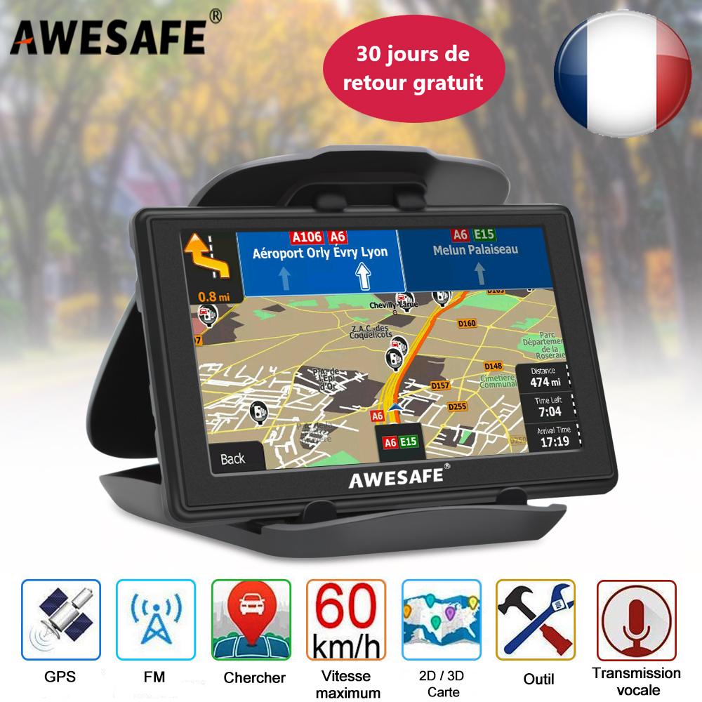 GPS de Voiture 7 GPS Navigation pour syst/ème de Voiture 8G M/émoire Camion Navigator /Écran Tactile Cartes EU Mises /à Jour gratuites