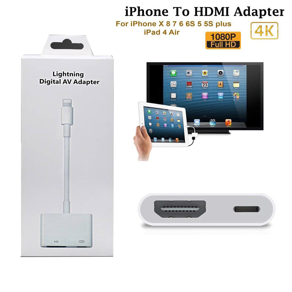 Details About 1080p Lightning To Digital Av Tv Hdmi Cable Adapter For Ipad Air Le Iphone