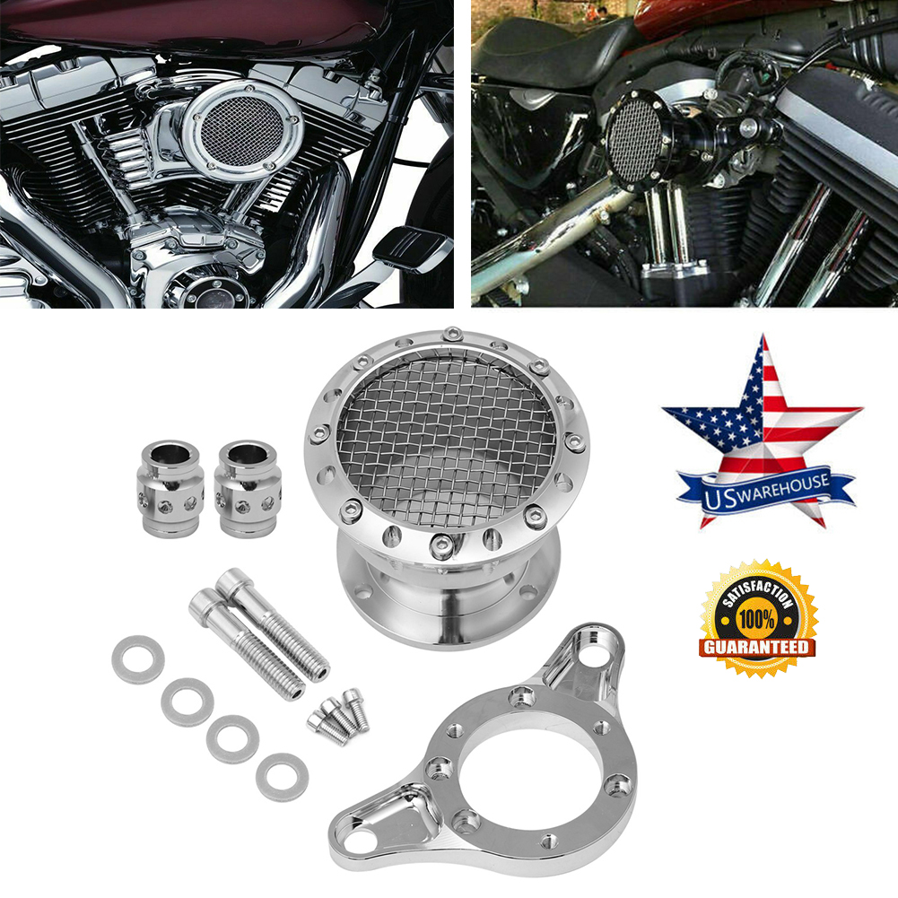 Air Cleaner Intake Filter System Kit Fit Harley Sportster XL 883 1200 2004-2016