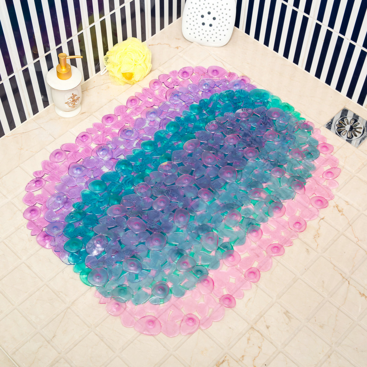 mat large floor bathtub liner bath slip elderly colorful mats bathroom for shower fabric tub extra rubber non