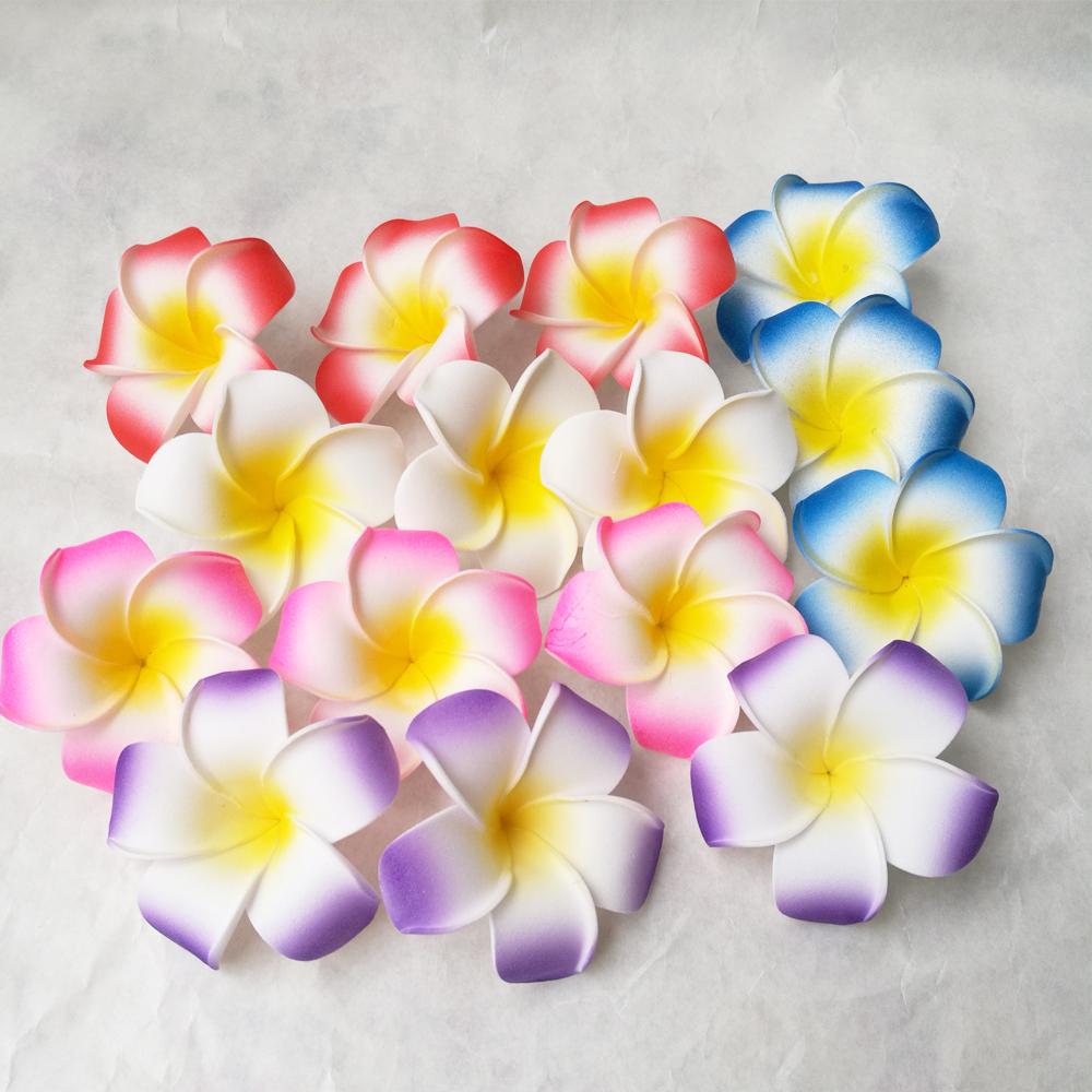 100pcs Mix Color Foam Hawaiian Plumeria Flowers Diy For Wedding