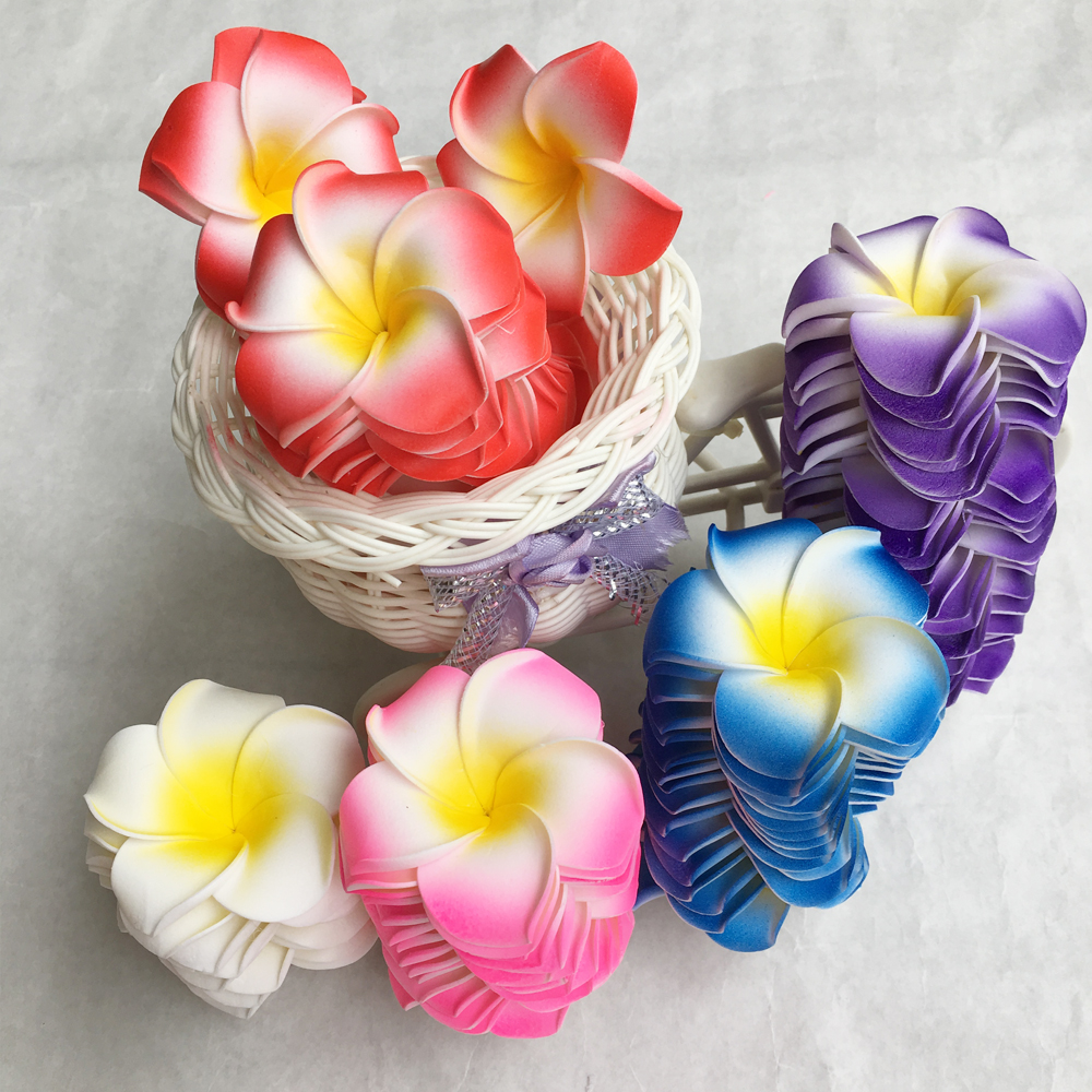 100pcs mix color foam hawaiian plumeria flowers diy for wedding 100pcs mix color foam hawaiian plumeria flowers diy for wedding party xmas decor izmirmasajfo
