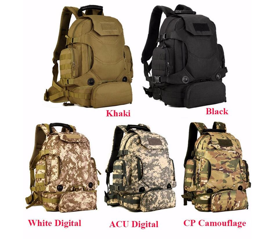 1d8d6ccdccc1 Details about Military Backpack Waterproof Camouflage Bag Nylon Backpacks +  Army Waist Pack