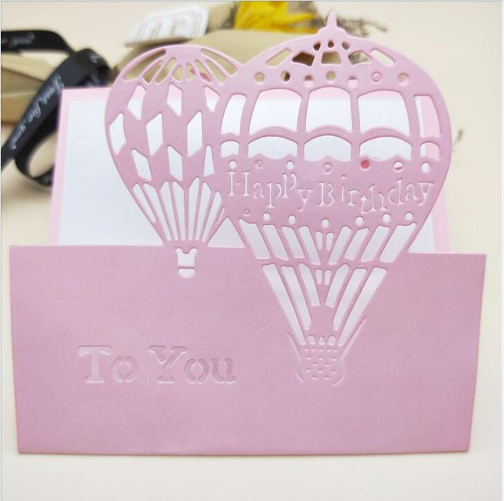 Hot Air Balloon Cutting Dies Stencils for DIY Embossing Paper Cards Crafts