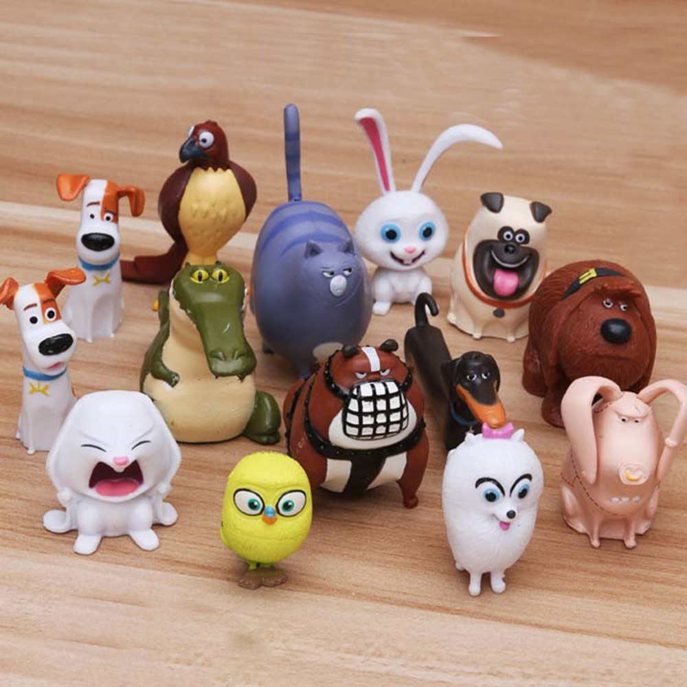 The Secret Life Of Pets Blind Bag Movie Toy 14 PCS Figures Cake Topper Doll Toys