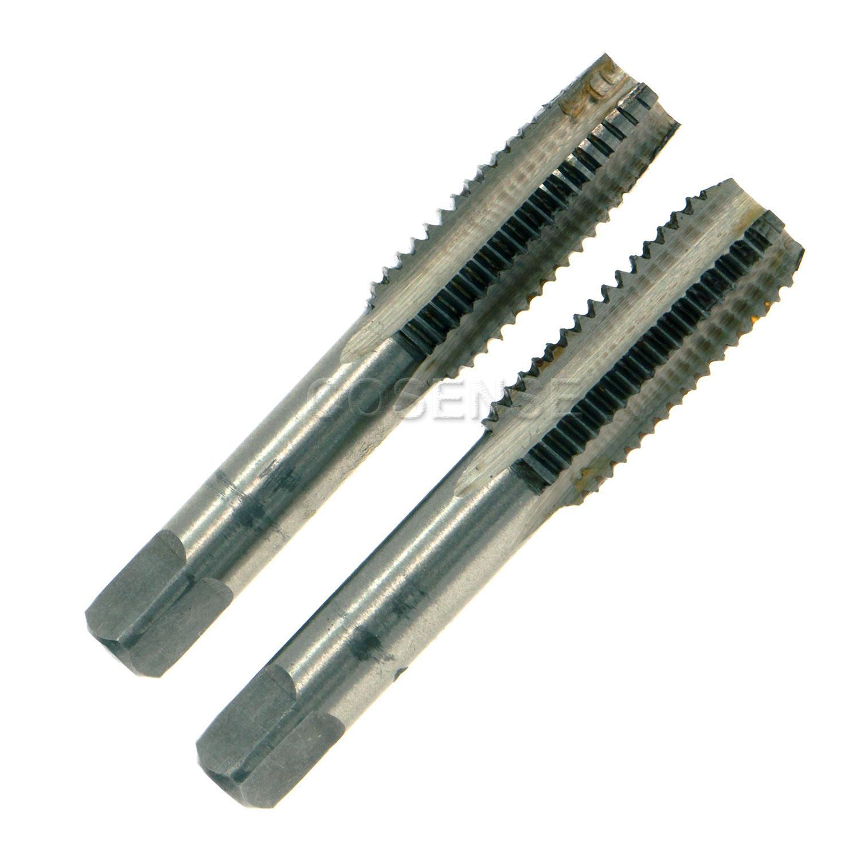 A set = 2pcs Hand taps 3.0mm x 0.5 Metric HSS Right hand Tap M3  tap