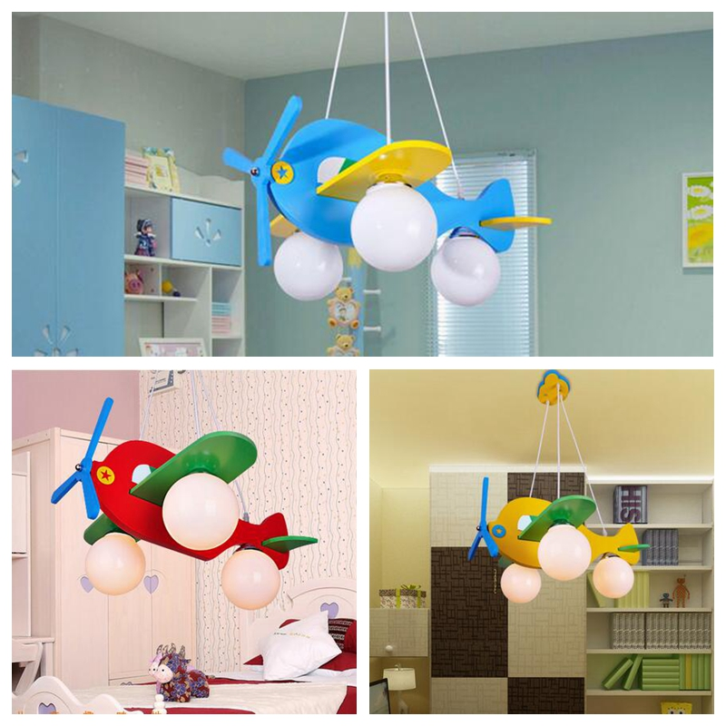 Details About 4colors Fly Plane Ceiling Light Wood Lamp Lighting Kid Child Bedroom Dream Room