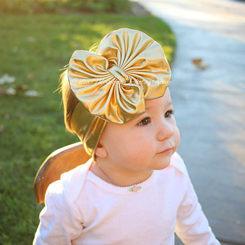 ZHW Baby Girls Headbands Turban Knotted Hairband Super Soft and Stretchy Hair Wrap for Newborn Toddle Childrens 7 Pack