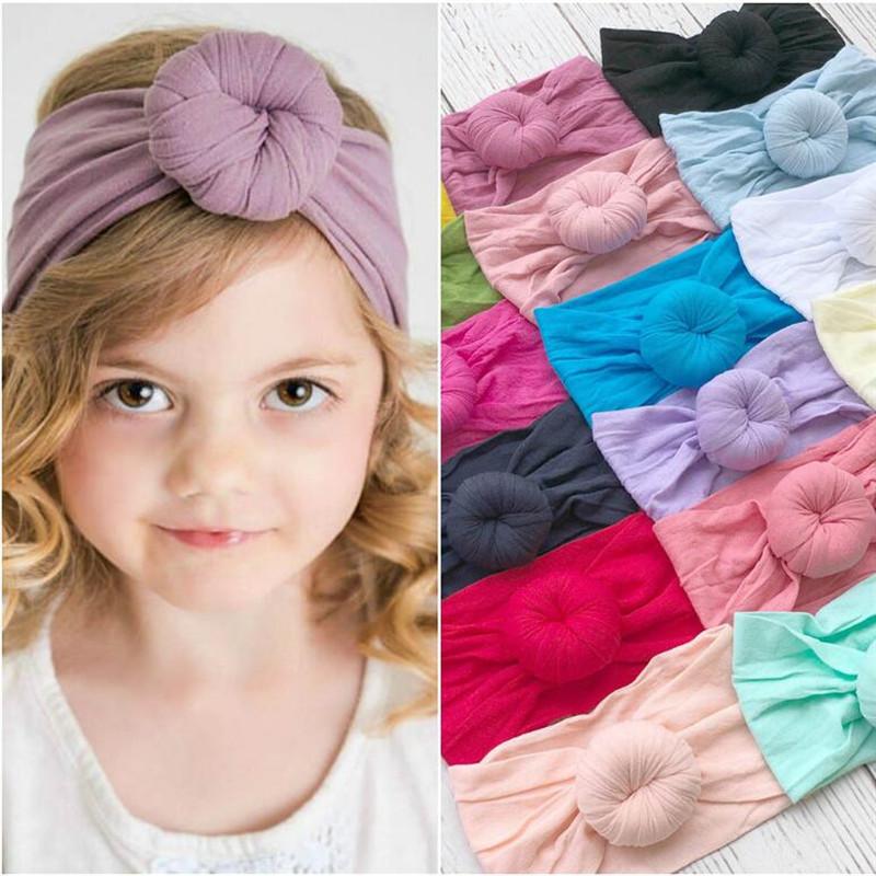 7 Pcs Girls Kids Baby Turban Hairpin Hairband Headband Stretch Turban G