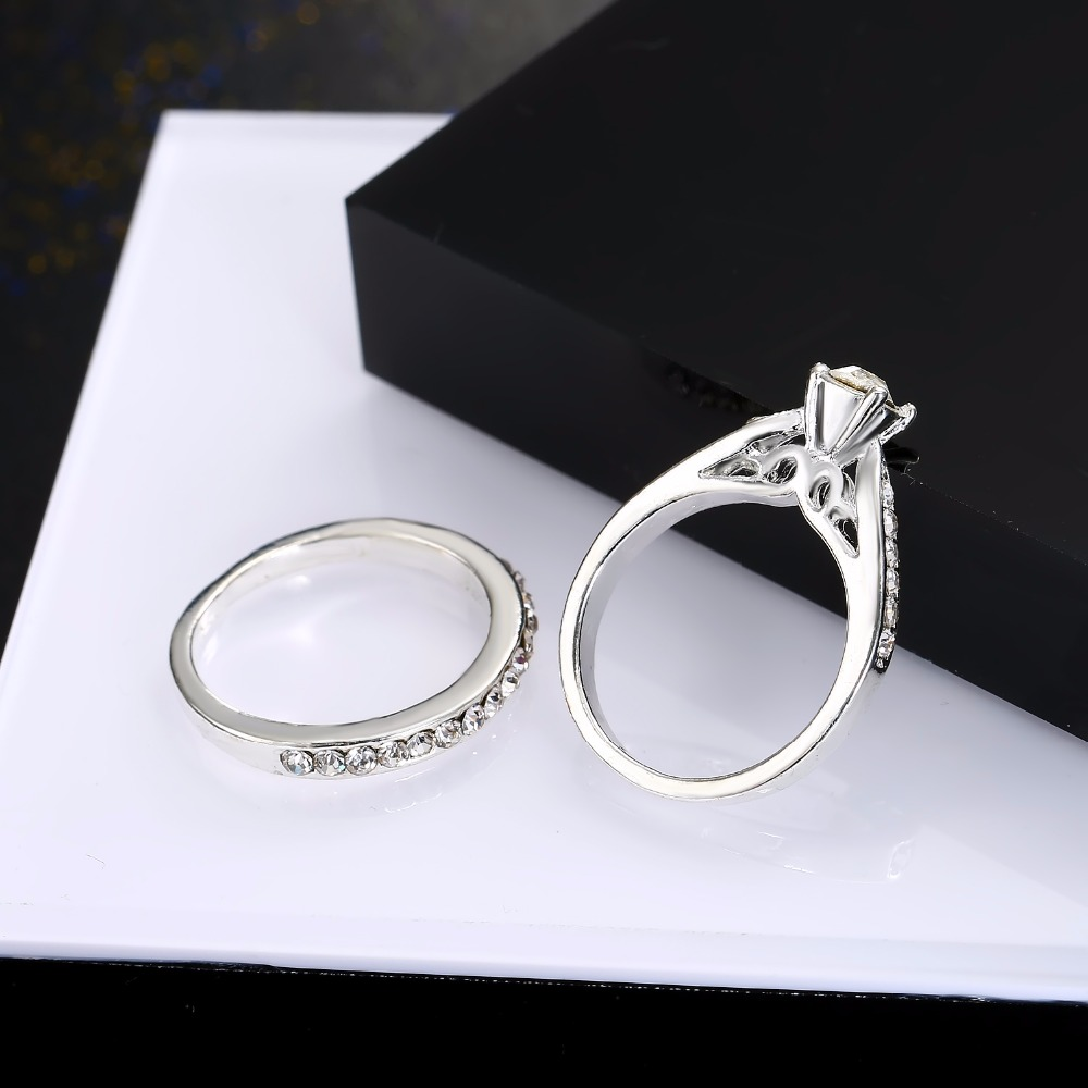 wedding ring pics 2pcs silver rings women jewelry wedding 9972
