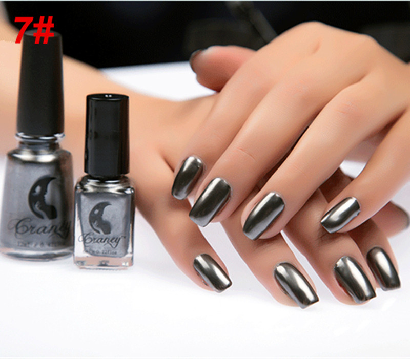NEW Metallic Nail Polish Magic Mirror Effect Chrome Nail Art DIY ...