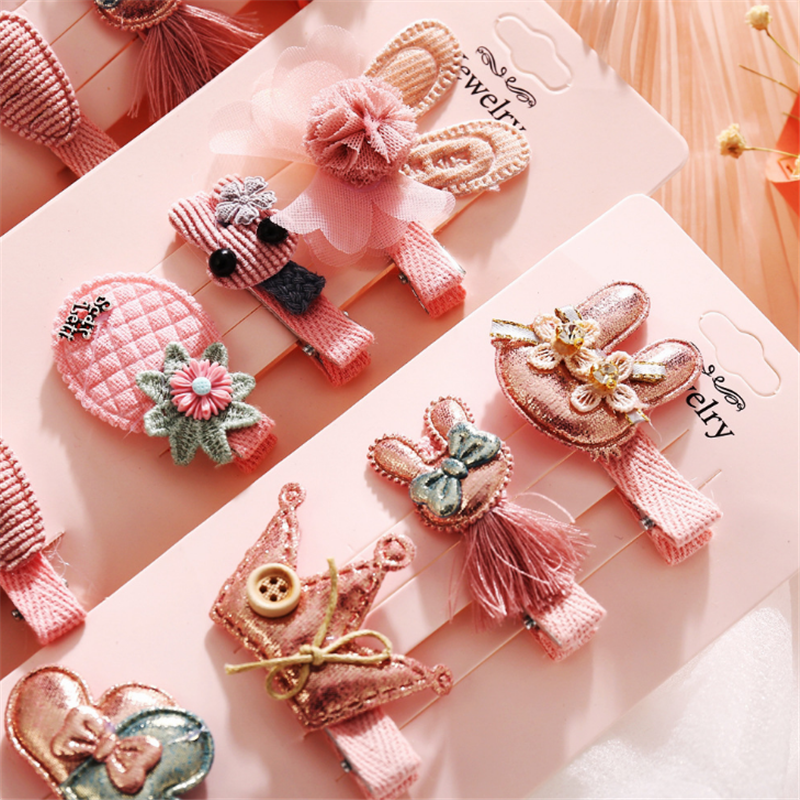 6Pcs Lovely Styles Kids Baby Girls Hairpins Mini Claw Hair Clips Clamp Cartoon