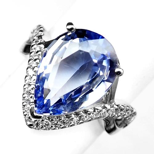 Splendid Tanzanite Gemstone 925 Sterling Silver Handmade Ring All Size