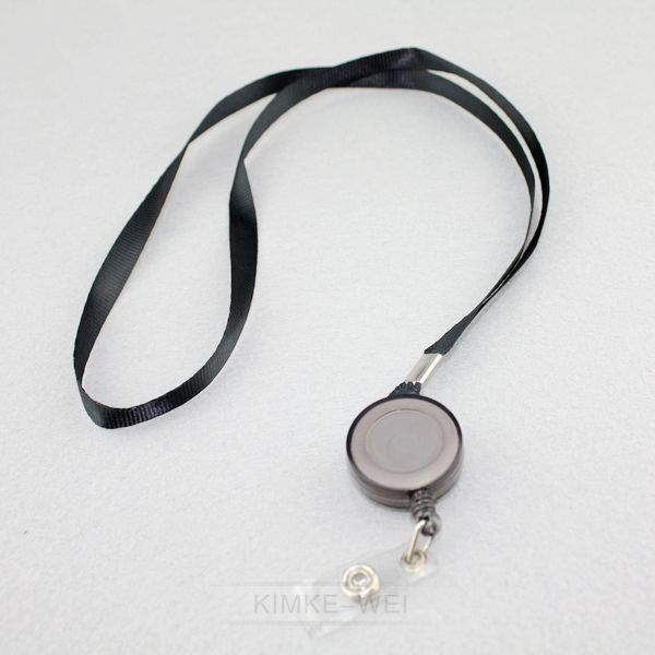 3x Schlüssel Lanyard Ring Einziehbare Kette Mit Gürtel Halterung ID Halterung