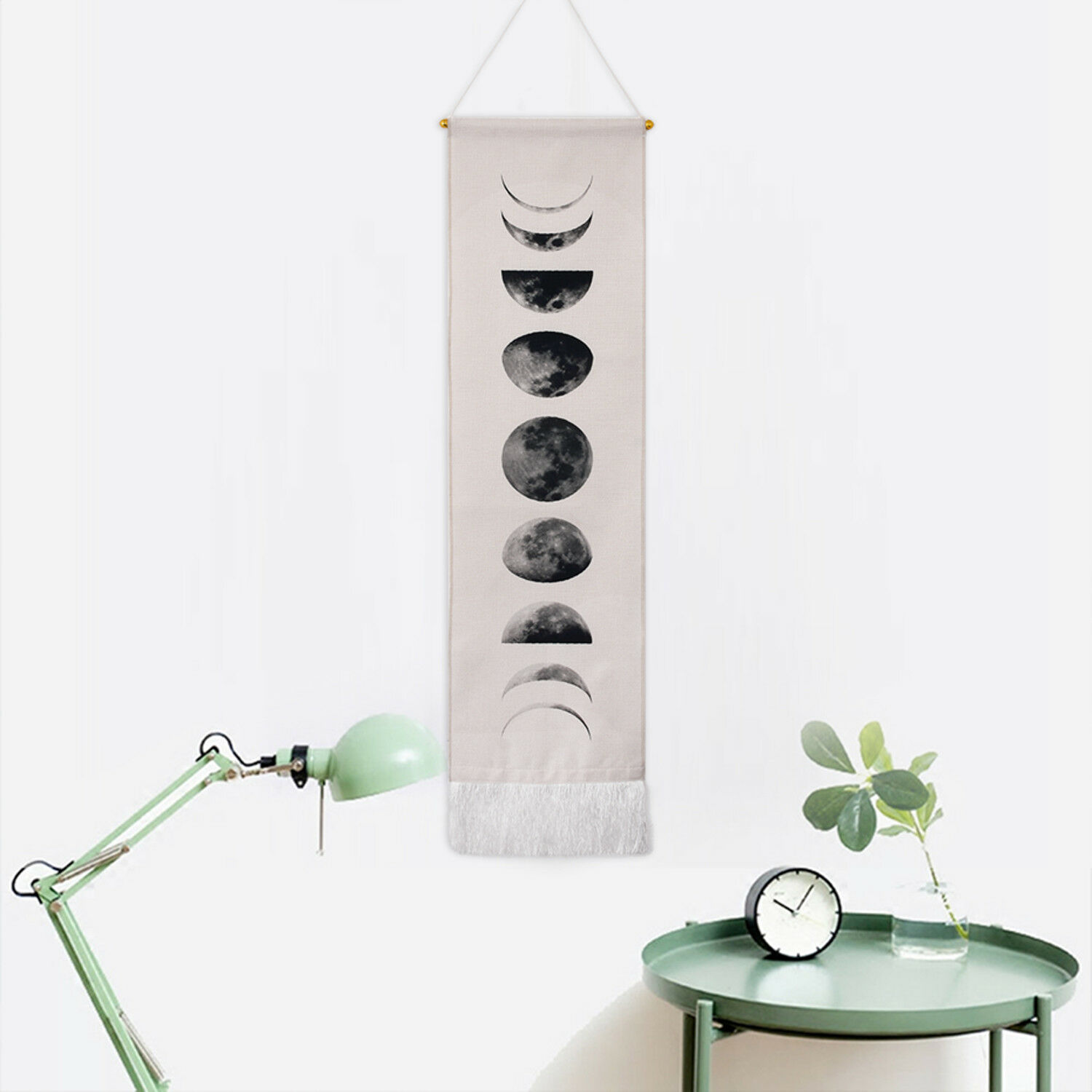 Art Gifts Moon Phase Lunar Display Wall Hanging Tapestry Home Wall Living Decor