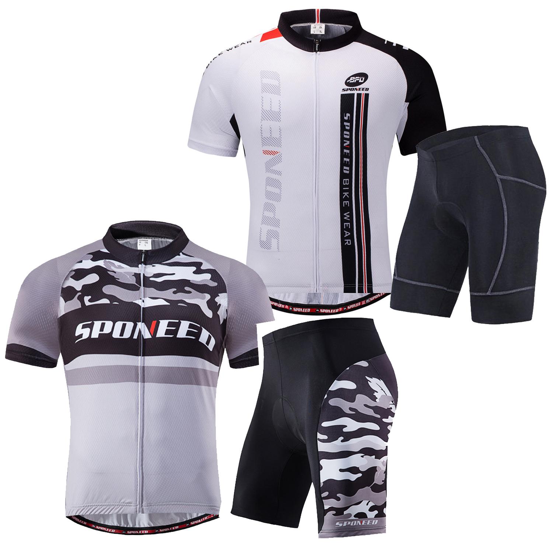 Cycling Jersey Shorts Kits Padded for Men BIke Shirt Cyclist Tights Uniforms