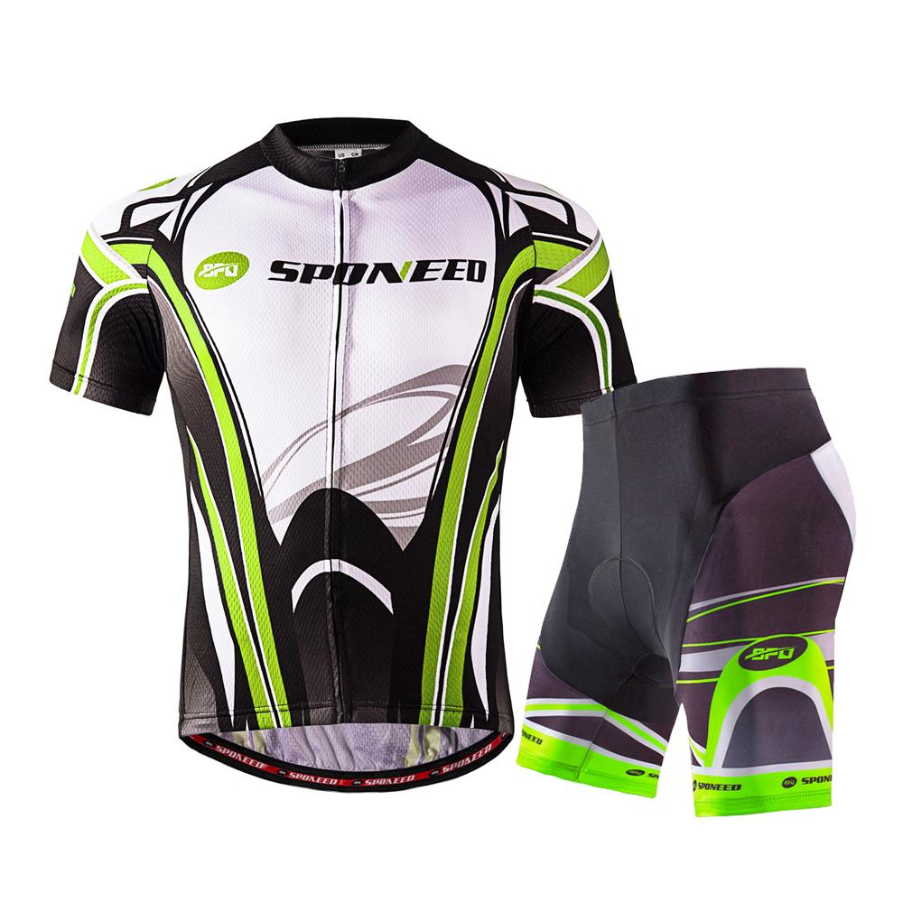 Men s Cycling Clothing Sets MTB Bike Shorts Gel Padded Bicycle Shirts  Sportswear 3f6359314