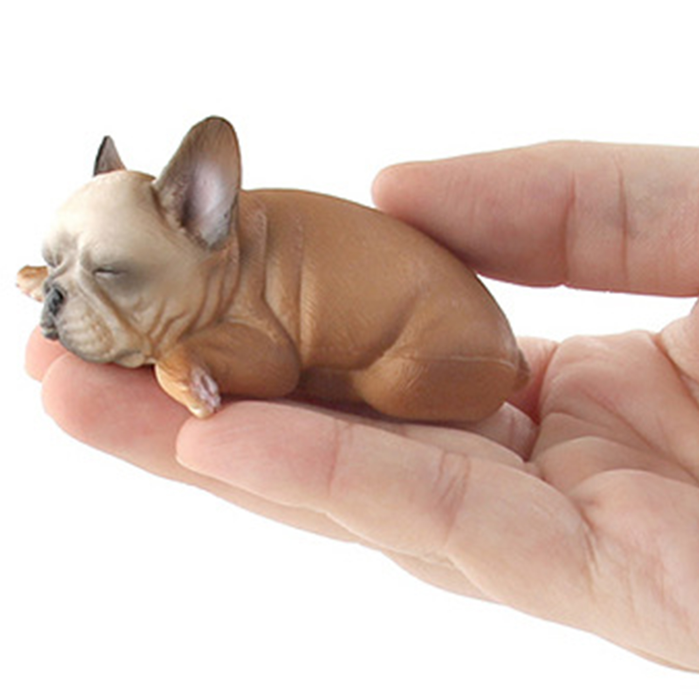 Mignon Anglais Bulldog Modèle Animal Chien Figurine Statue Maison voiture Décoration Enfants Cadeaux