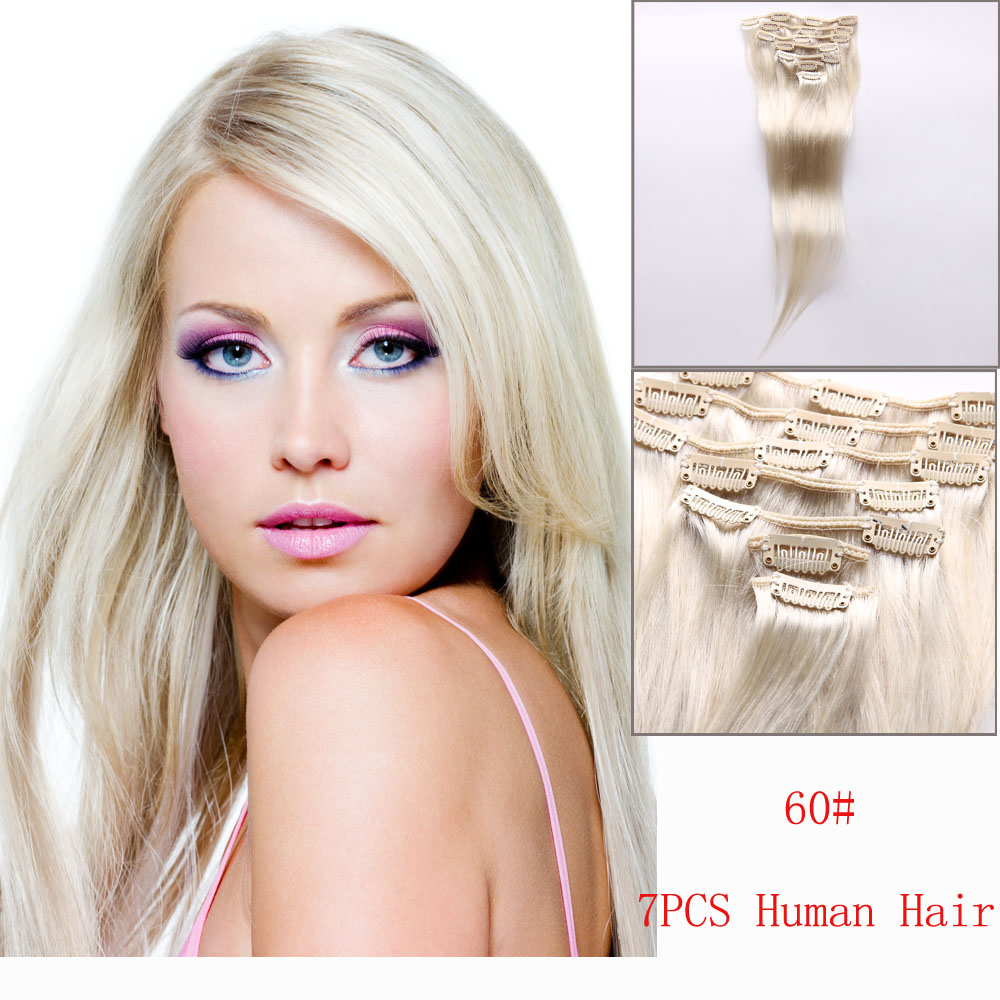 Clip in 100 real human hair extensions blonde straight 60 7pcs about feedback as a seller we vaule our reputation very much we commit to satisfy every customer please contact us first before leaving neutralnegative pmusecretfo Images