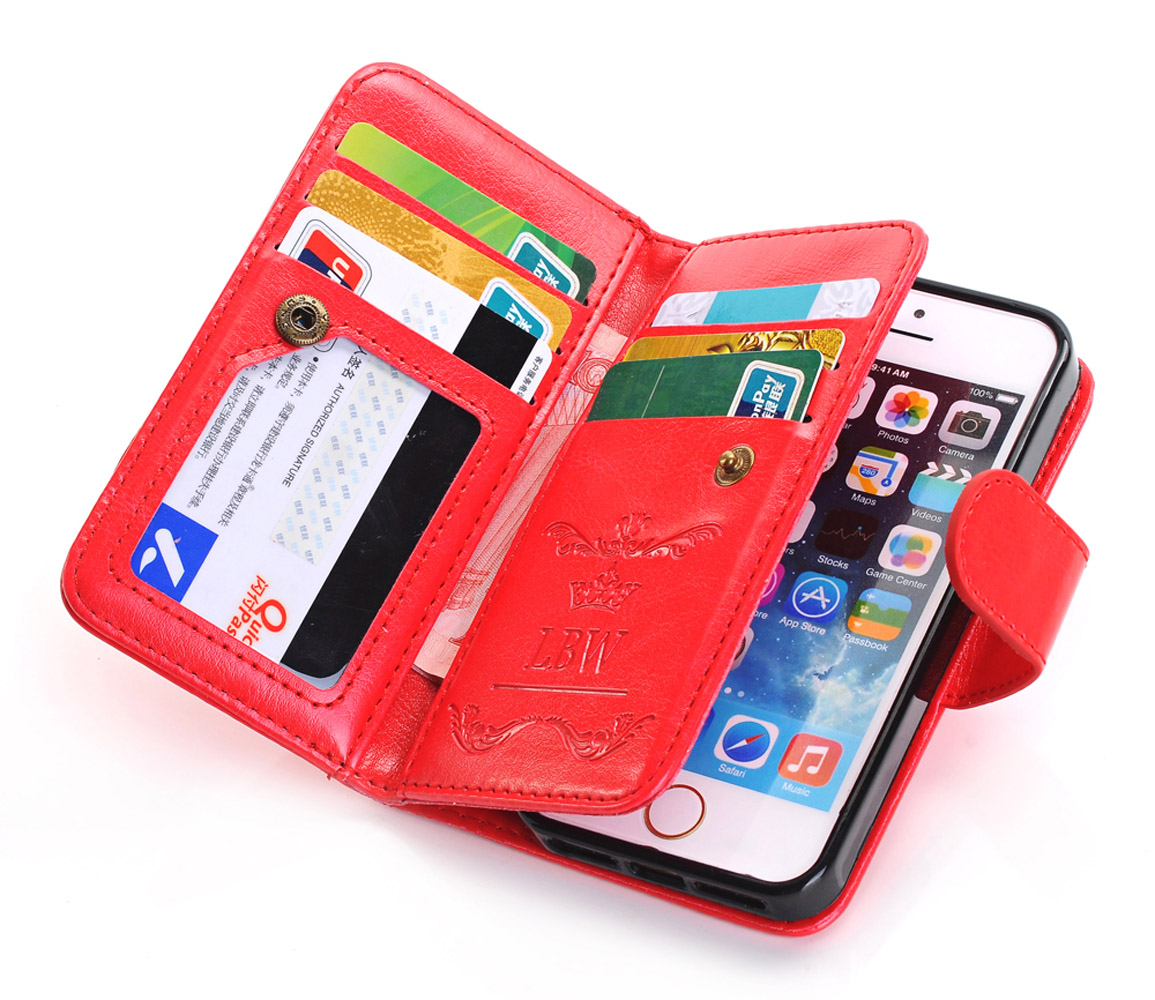 iphone 5 wallet case for men pu leather handbag card wallet clutch phone 19309