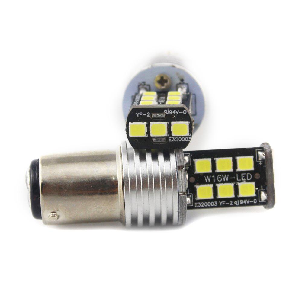RED 1156 Ba15s 15 SMD 2835 LED 12-24V Canbus Error Free Cars Rear Lights 2x//Set