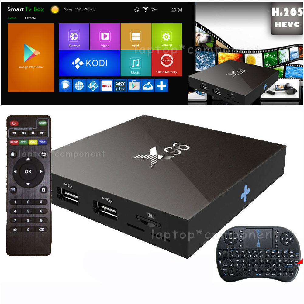 Details about X96 Smart TV BOX Android Amlogic S905X Quad Core 2GB+16GB 4K  Wifi +Keyboard LOT
