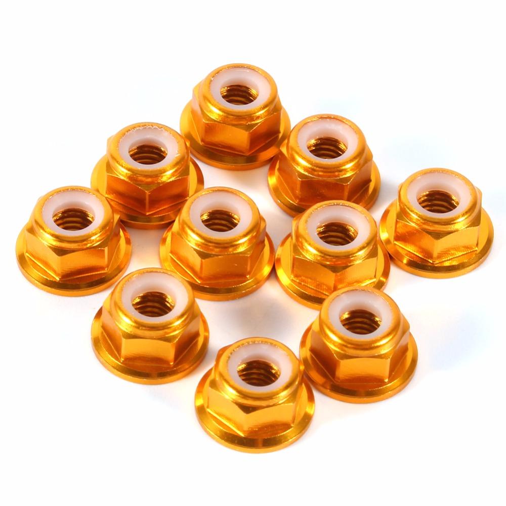 M2//M3 Aluminum Nylon Insert Lock Nuts Purple//Gold//Black//Silver//Orange//Green//Blue