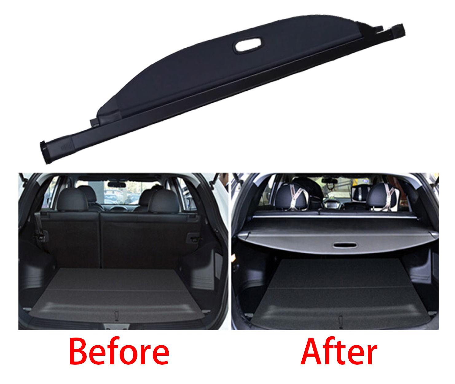 Retractable Tonneau Cargo Cover Luggage Privacy Shade For