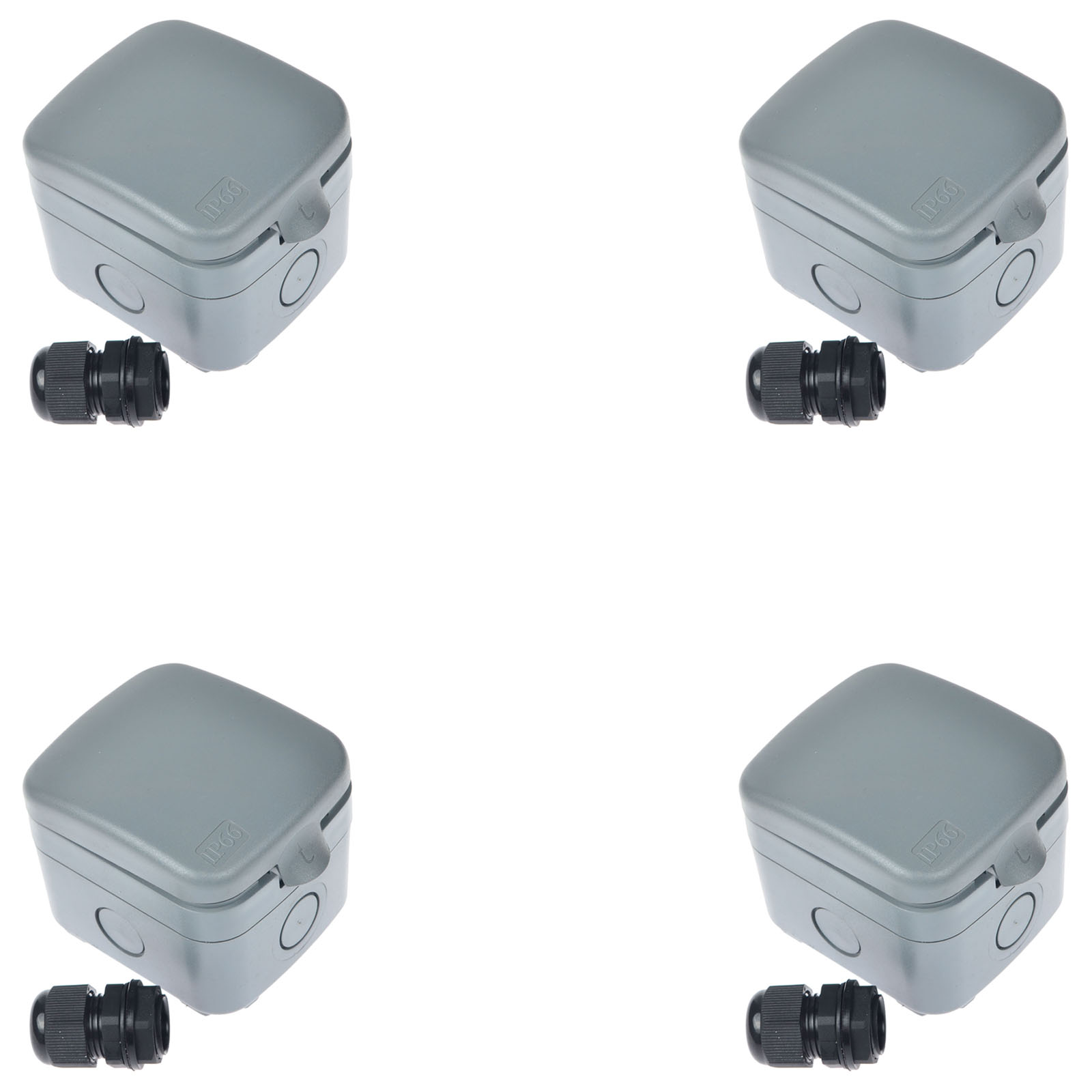 4PK Weatherproof Exterior Outdoor Light Switch Garden 15A IP66 ...