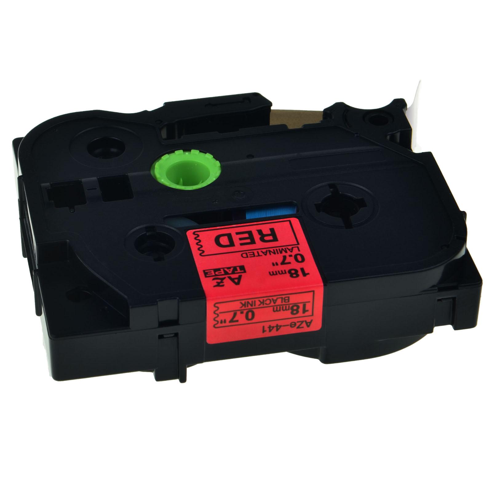 Black on Red TZ441 TZe441 Tape For Brother PT-1400 PT-1500 PT-1760 Label Maker
