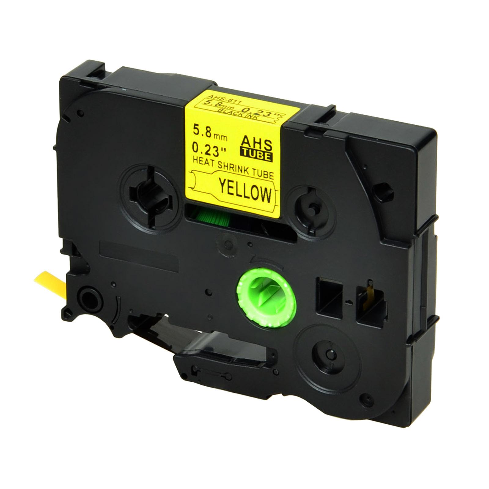 2PC HSe231 Heiz Schrumpf Schlauch für Brother Schwarz auf Weiß 11.7mm PT-E550WVP