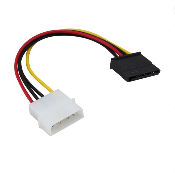 5PCS IDE to 2 Serial ATA Hard Drive SATA HDD Power Cable Cord Adapter