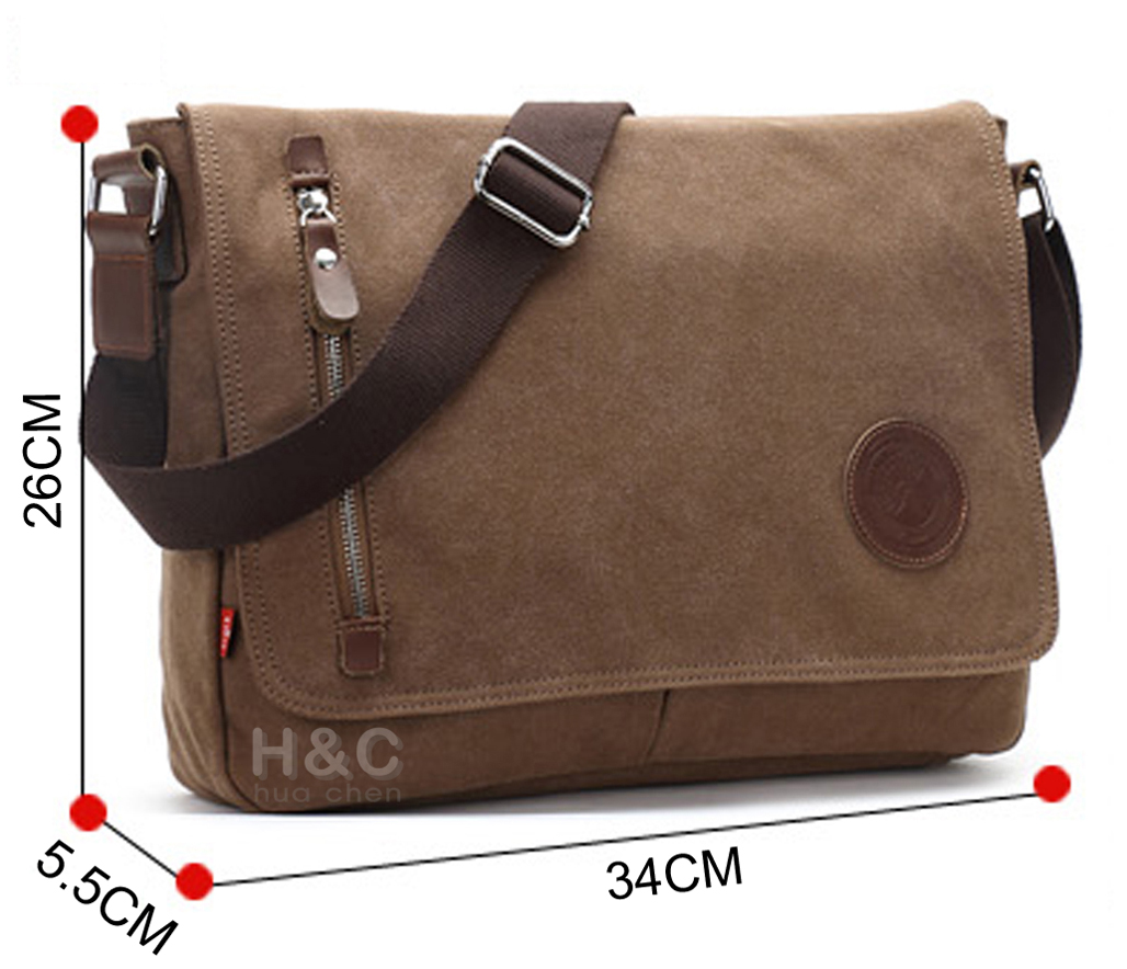 e3f4225beedb Men s Vintage Canvas Schoolbag Satchel Shoulder Messenger Bag Laptop Bags  New