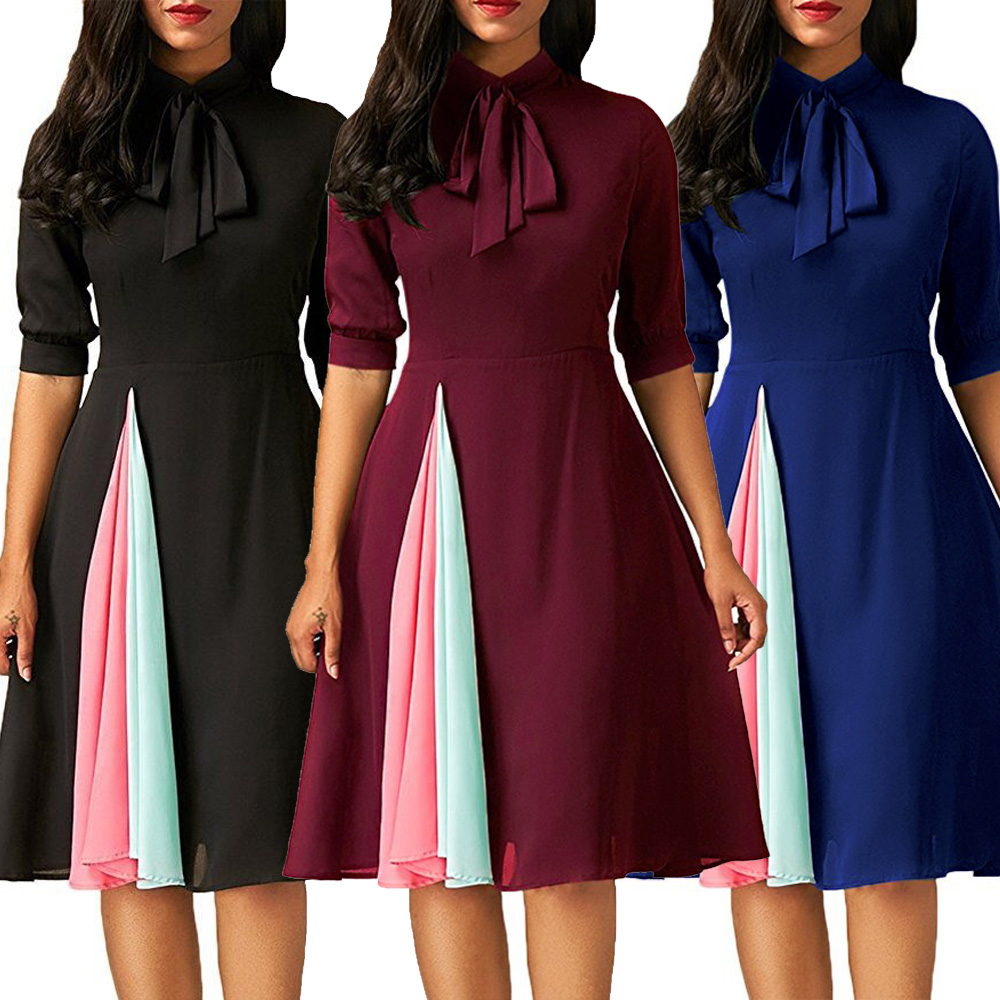 Women Long Sleeve Evening Party Dress Mini Dress Casual Normal