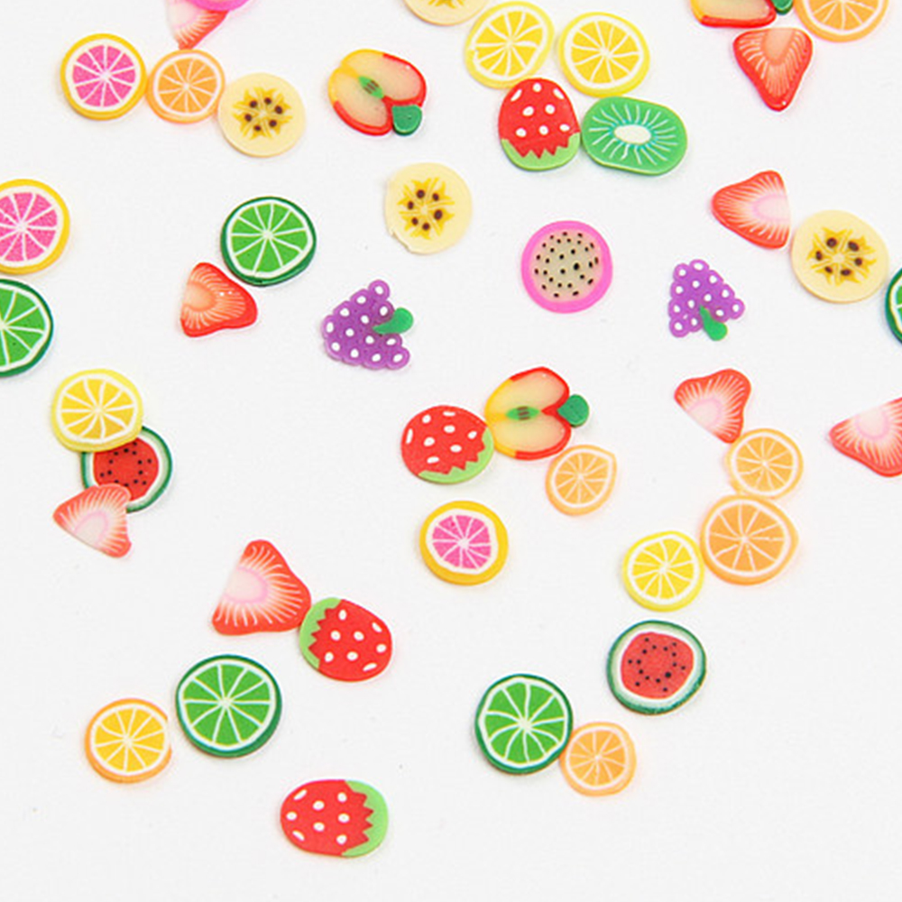Wholesale Mix Design Fimo Slices Fruit DIY Handmade