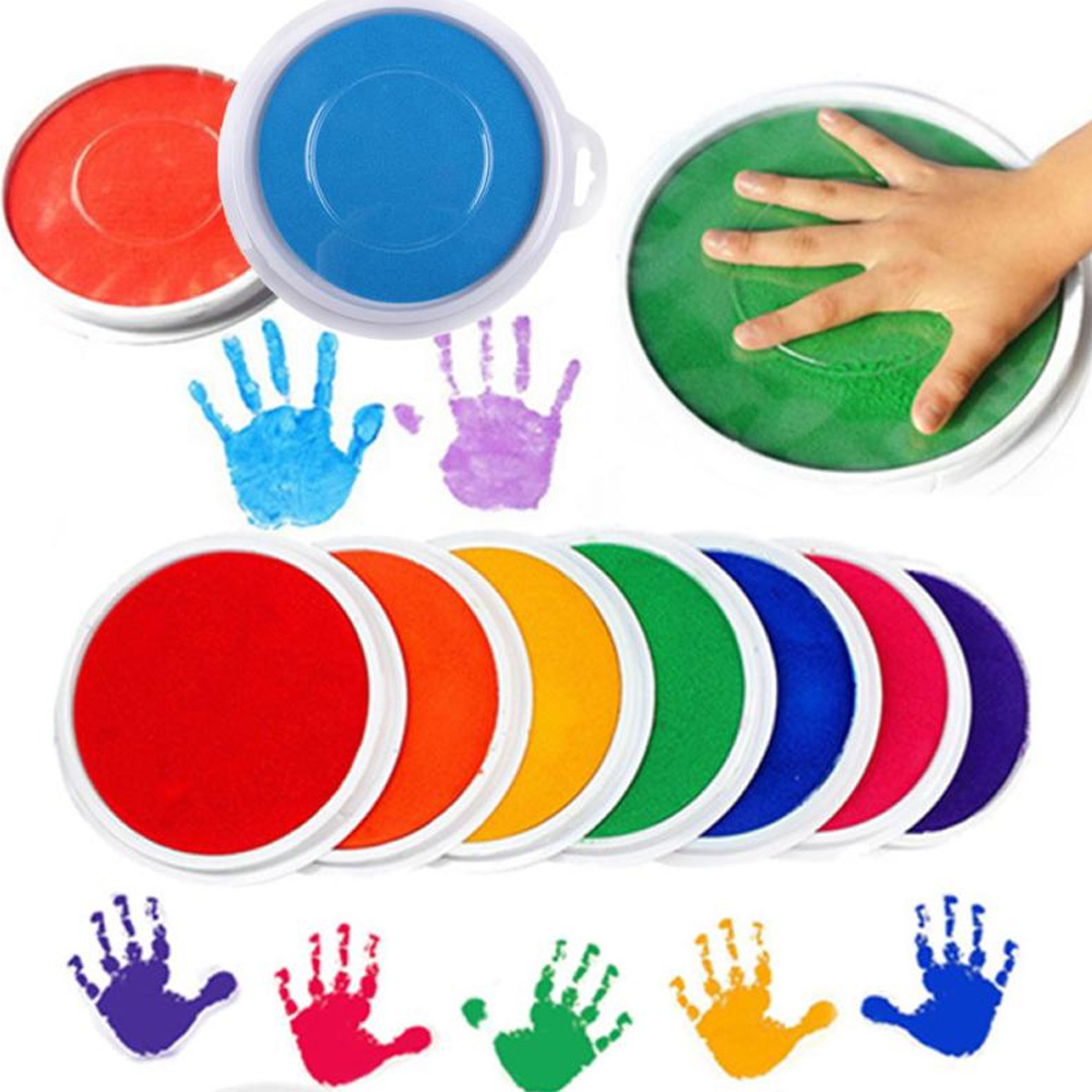 Details About Non Toxic Baby Safe Ink Pad Painting Fingerprint Stamp Handprint Footprint