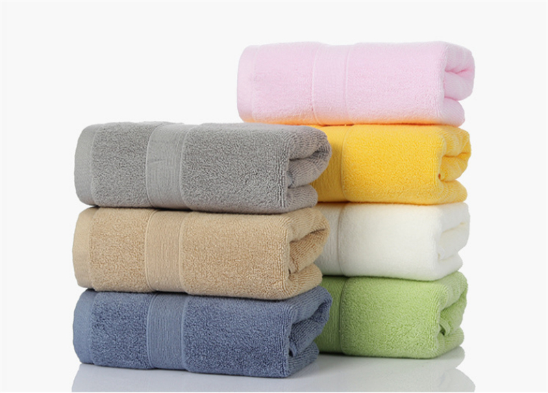100/% Cotton Solid Color Striped Absorbent Soft Thicken Bathroom Adult Hand Towel