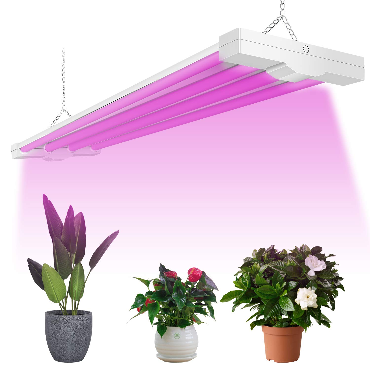 Details About 4ft Led Grow Light Full Spectrum Integrated Growing Fixtures For Flower 50w 80w
