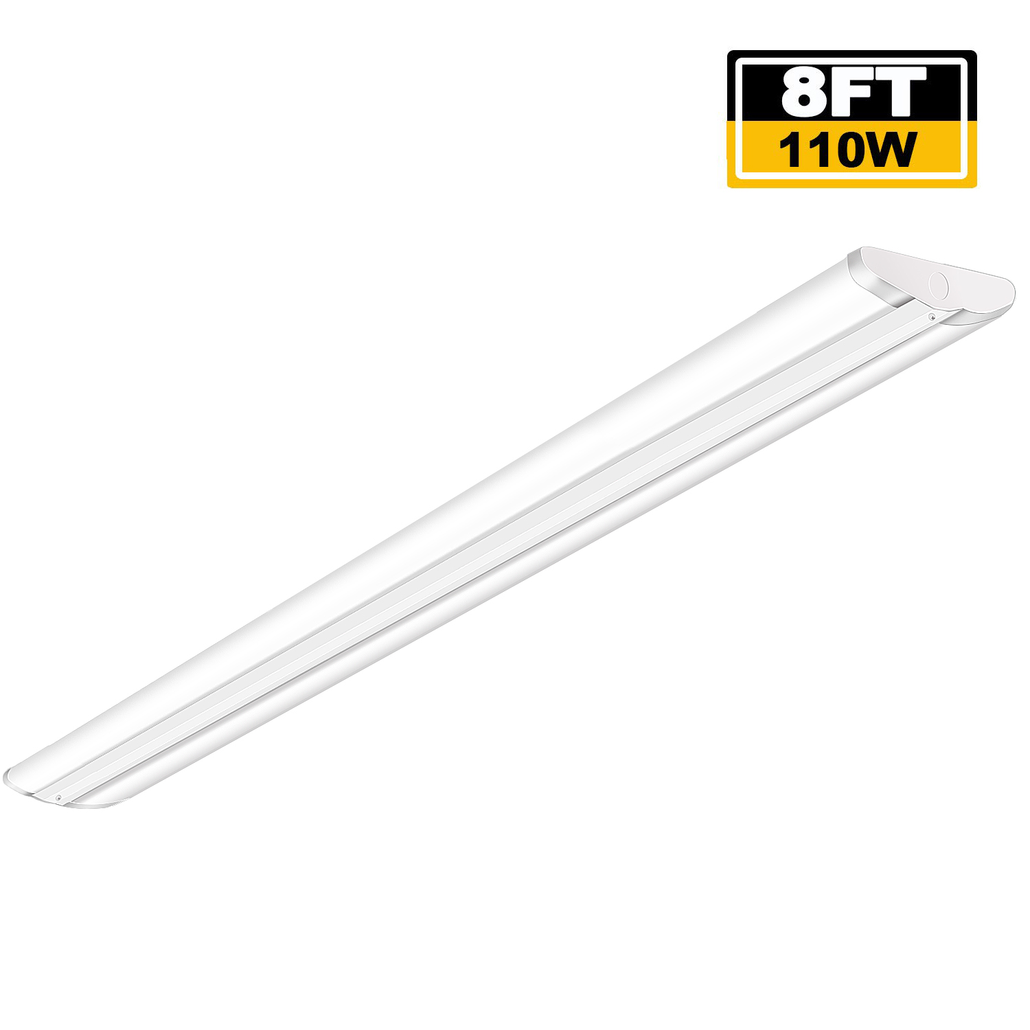 8 Ft 2 Lamp Fluorescent Strip Light White No Ssf2964wp 8ft: 8FT LED Shop Light Fixture 110W LED Ultra Slim Garage