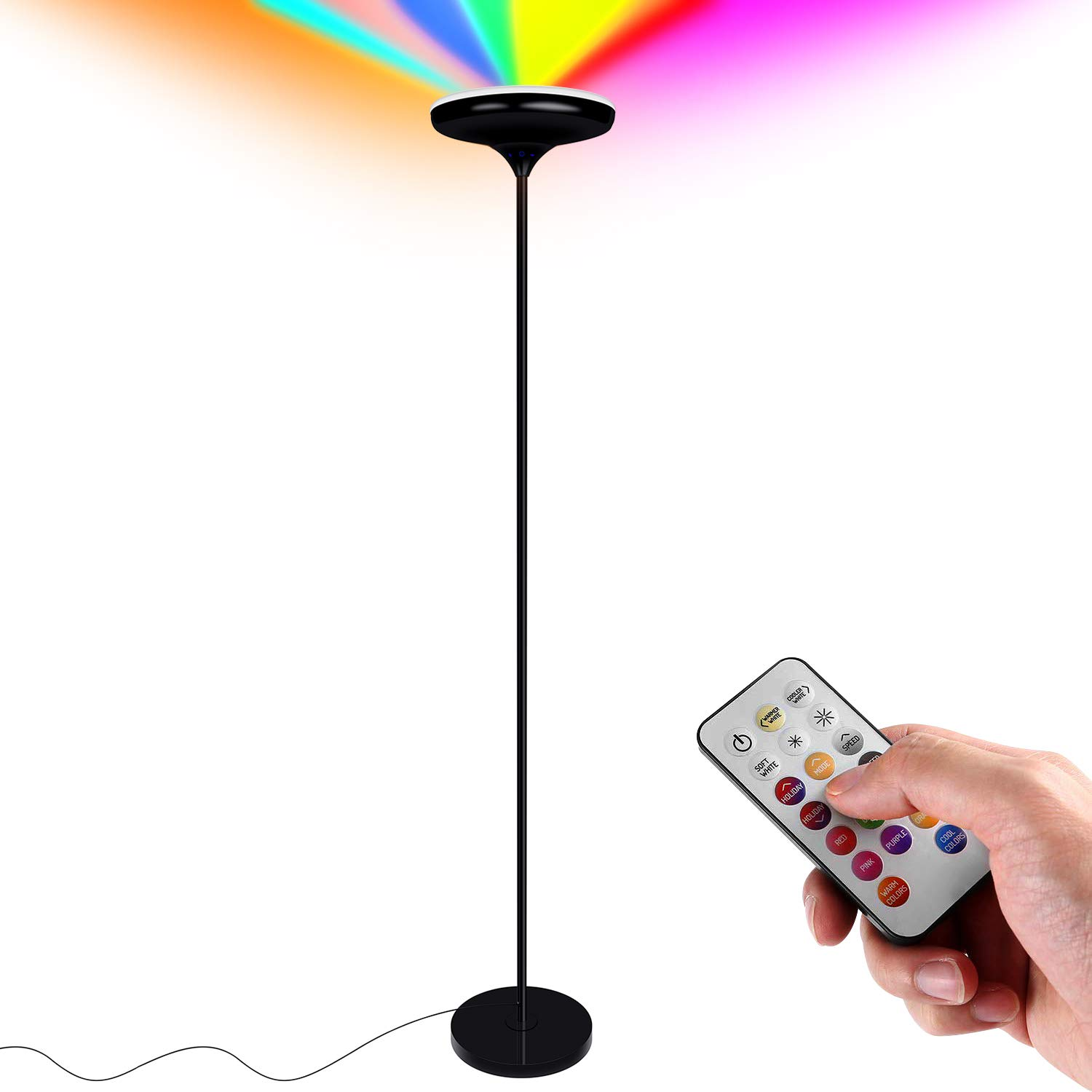 Details About 67 24w Dimmable Color Changing Led Floor Lamp With Remote Control For Bedroom