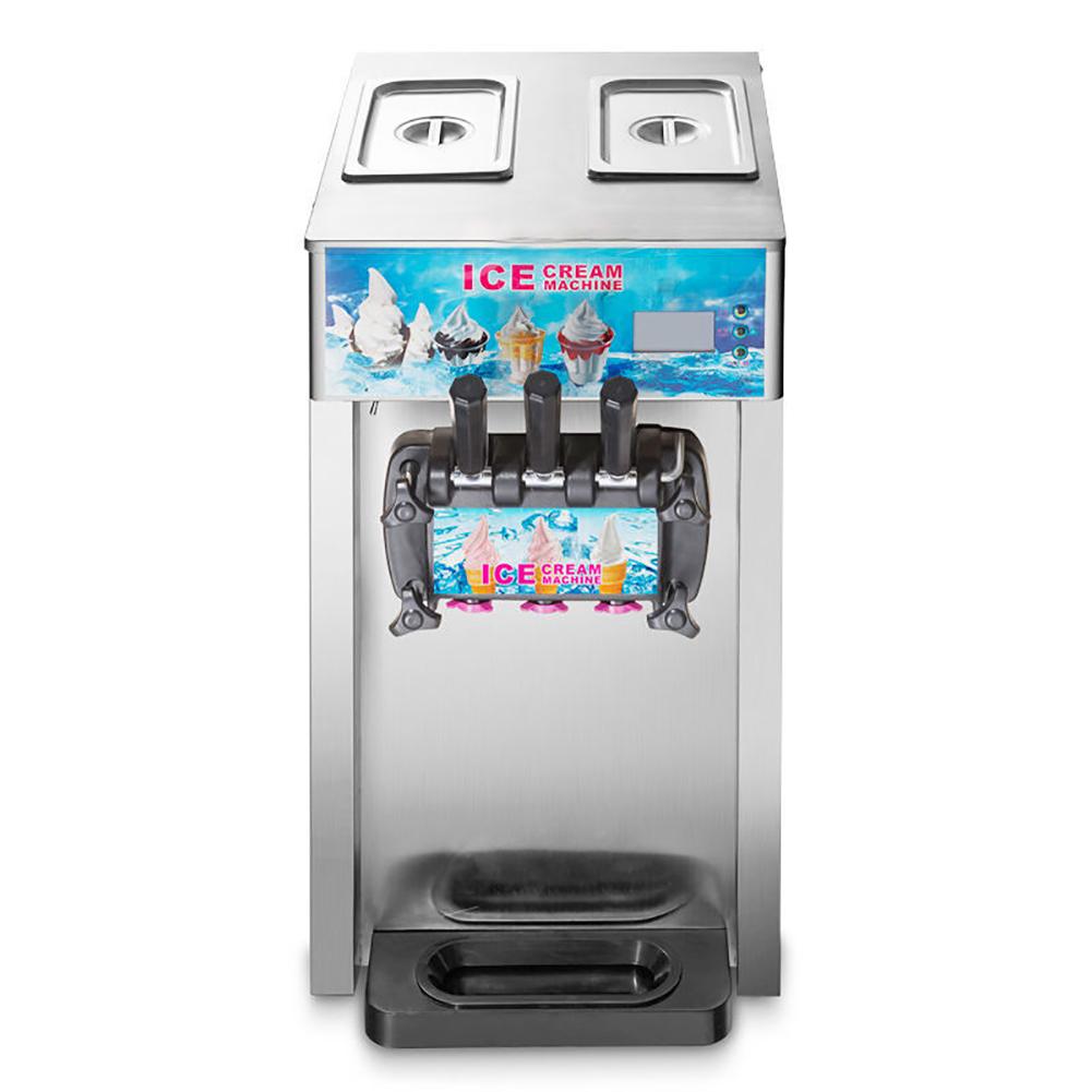 Frozen Ice Cream Machine Part - 44: Soft Ice Cream Machine 3 Flavor Commercial Frozen Ice Cream Cones Machine  New