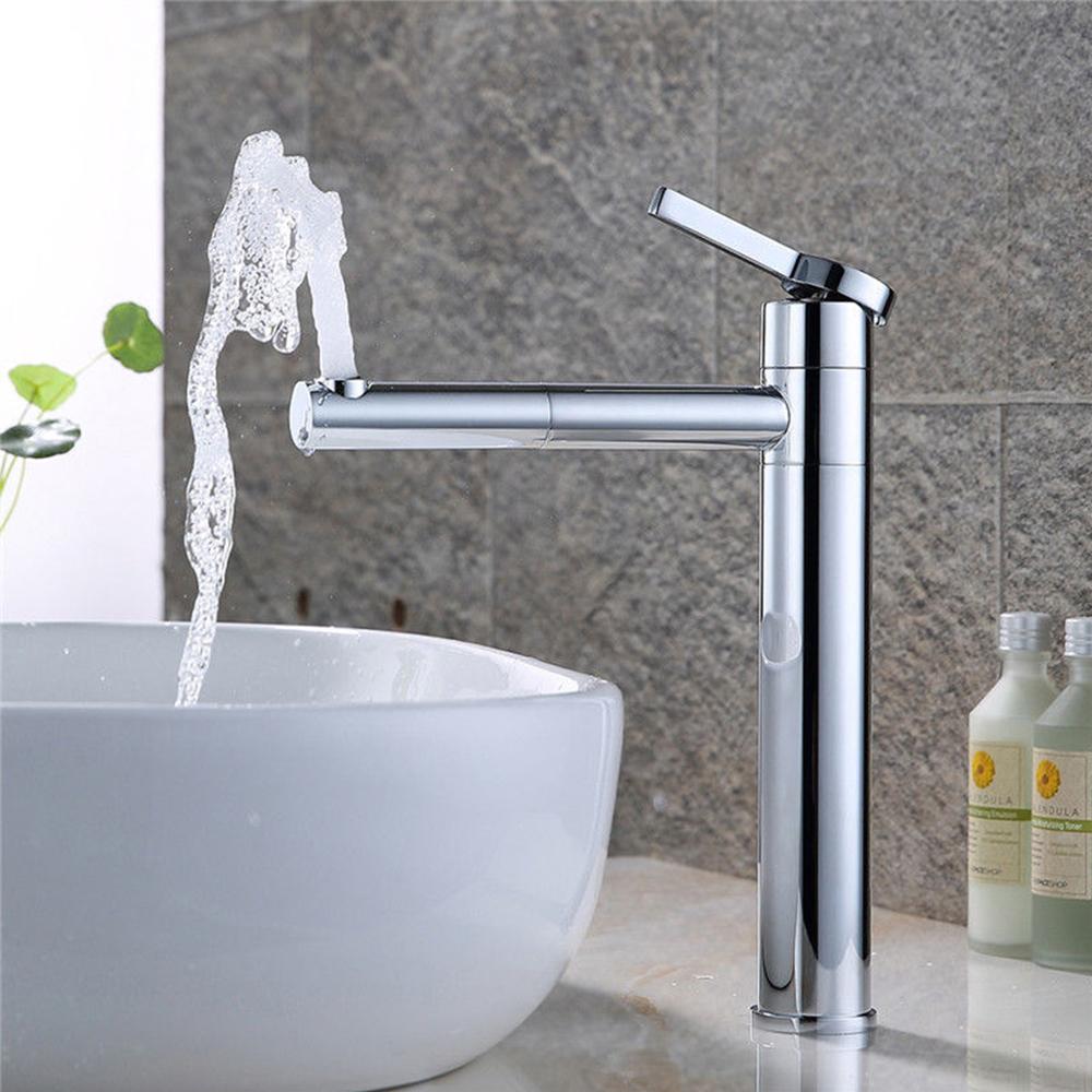 waschtischarmatur hoch waschbecken wasserhahn einhandmischer mischbatterie chrom ebay. Black Bedroom Furniture Sets. Home Design Ideas