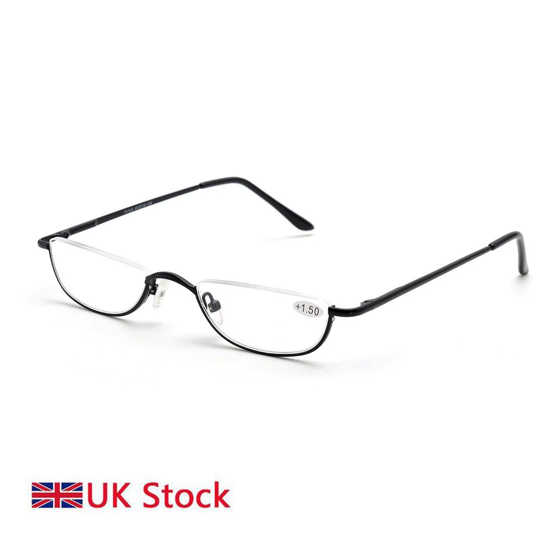 67fd946901f Details about Unisex Half Moon Half Frame Slim Reading Glasses Metal Frame  Spring hinge Eyewea