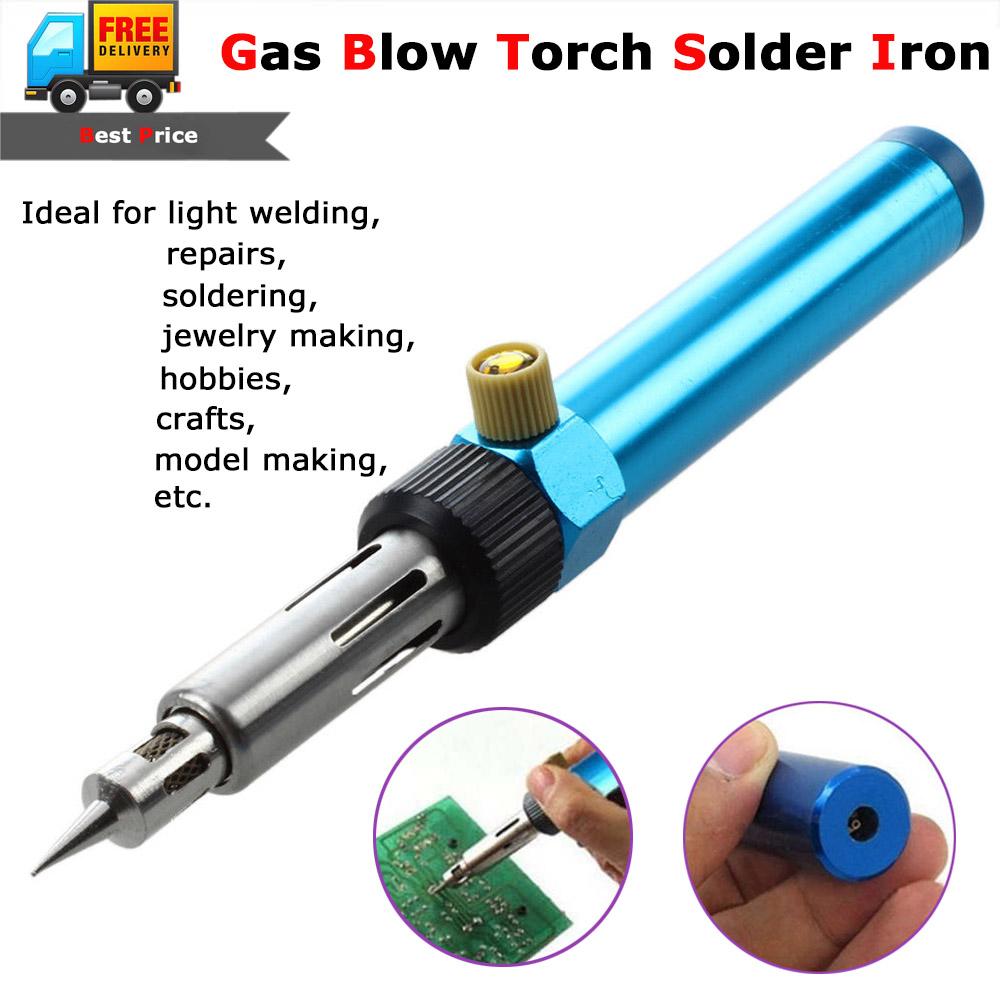 Butane Blow Torch Gas Soldering Solder Iron Gun Cordless Welding Pen Burner 8ml