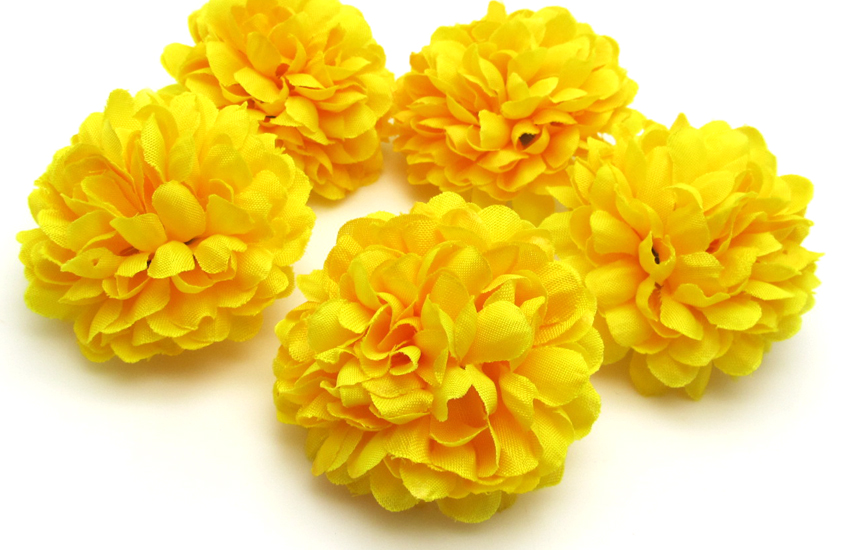 Yellow color 30pcs chrysanthemum ball artificial flowers home decor new 30pcs artificial chrysanthemum ball flowers party home decor dia 196 mightylinksfo