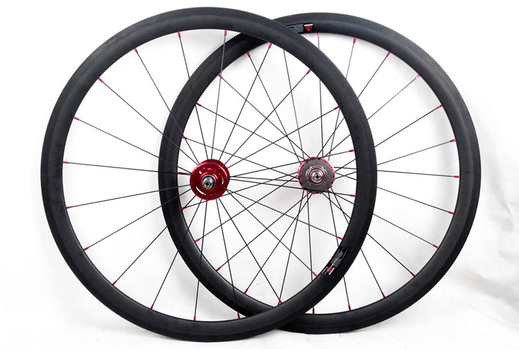 Track Carbon Bike Wheels 38mm Fixed Gear Bicycles Wheelset20 5mm