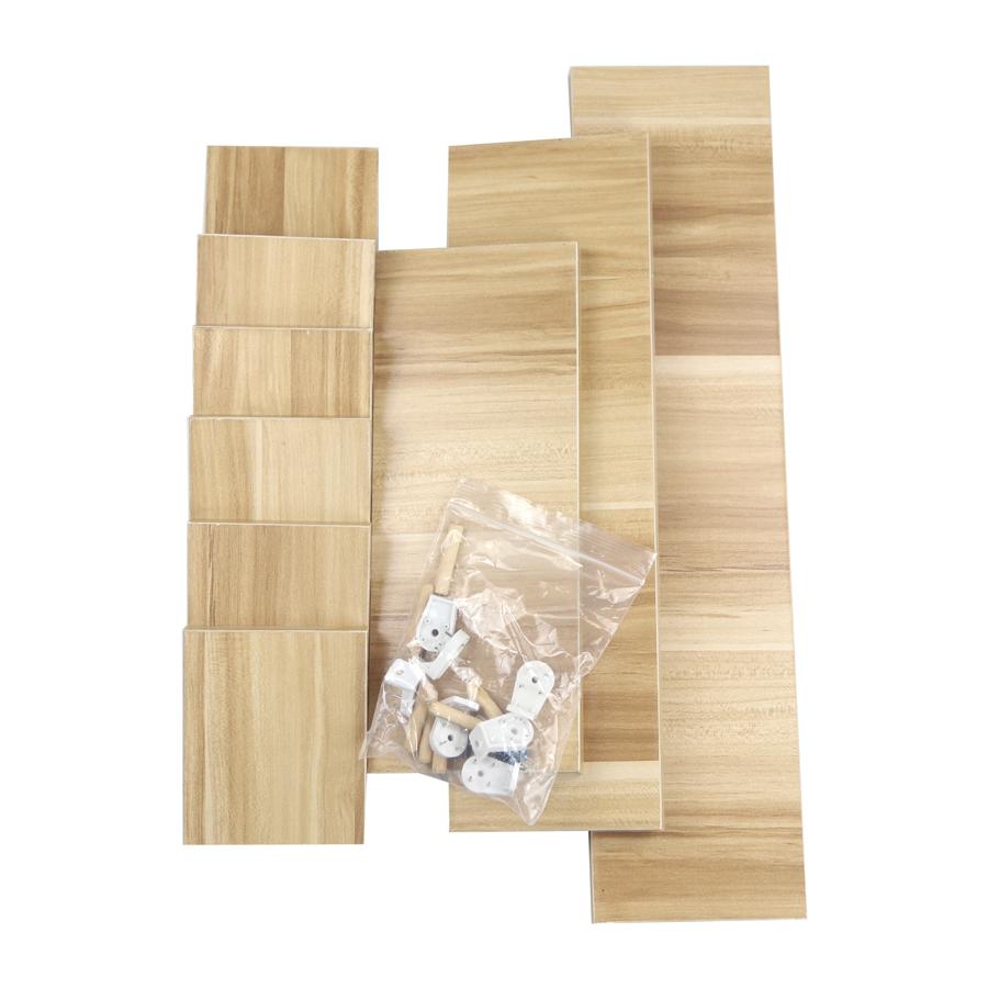 Set of 3 U Shape Floating Wall Mounted Decor Storage Shelf White ...