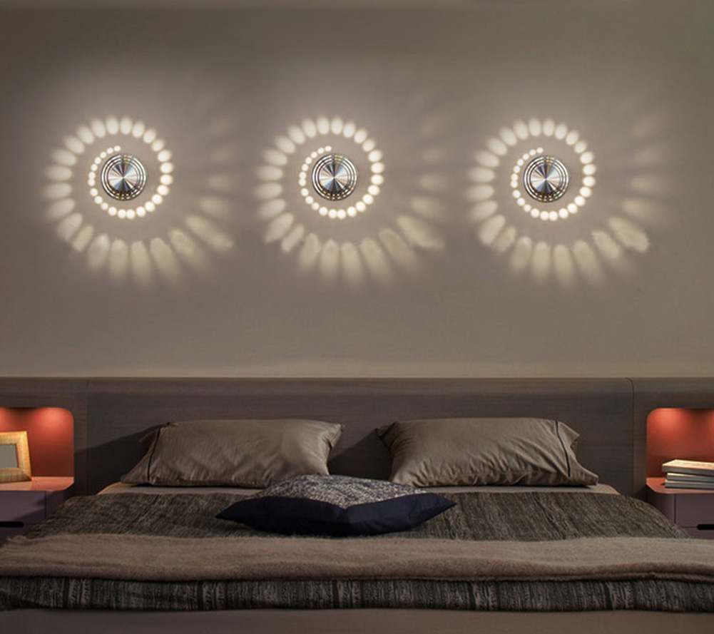 Details About 3w Spiral Led Wall Light Spot Lighting Lamp Bedroom Sconce Ceiling Modern Decor